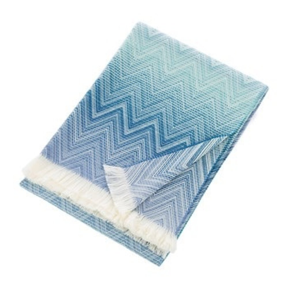 throws  current home - missoni timmy throw  blue