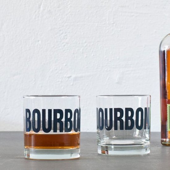 """BOURBON"" ROCK GLASS | BLACK"