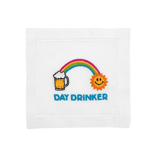 LINEN COCKTAIL NAPKIN SET | DAY DRINKER