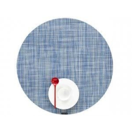BASKETWEAVE ROUND PLACEMAT | CHAMBRAY