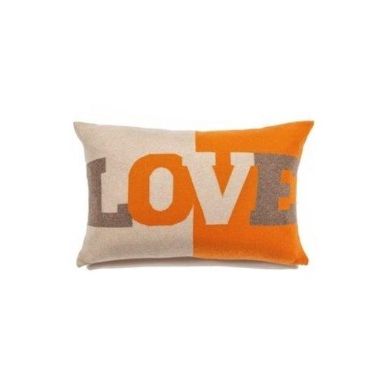 CASHMERE LOVE PILLOW | ORANGE & BEIGE