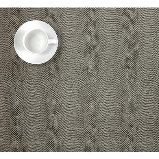 FAUX SNAKE SKIN SQUARE PLACEMAT | METAL