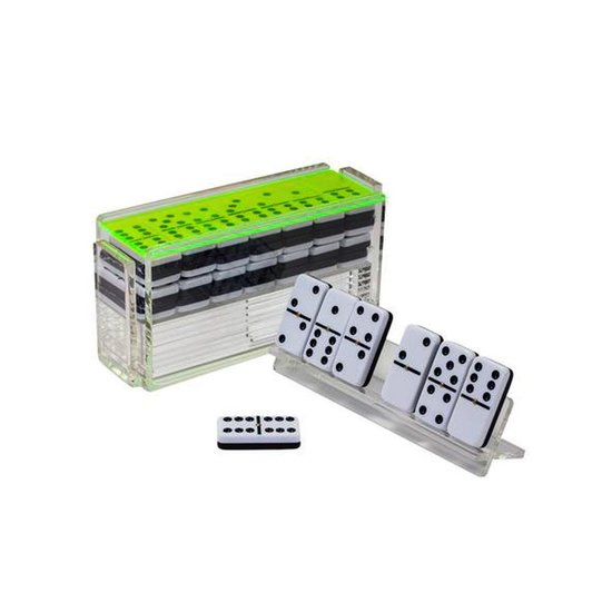 ACRYLIC DOMINOES SET | NEON GREEN