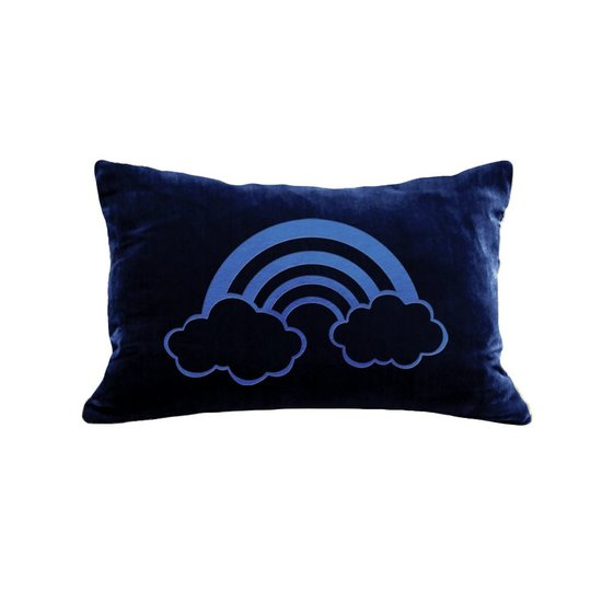 BLUE RAINBOW PILLOW | NAVY