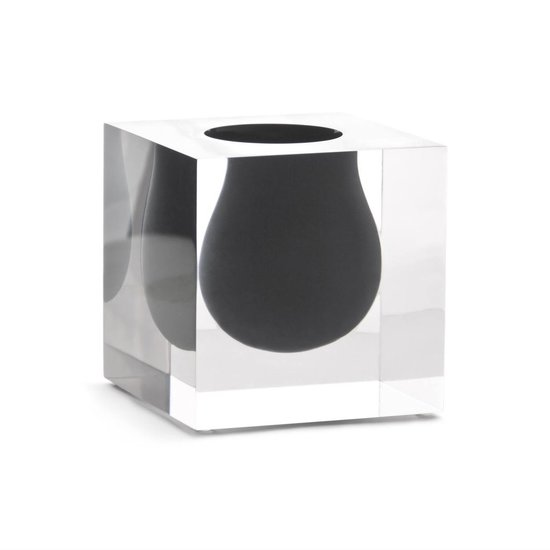 BEL AIR MINI SCOOP VASE | BLACK