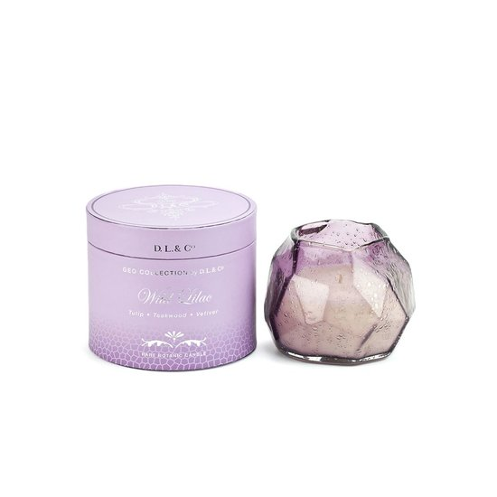 GEO BUBBLE GLASS CANDLE | WILD LILAC
