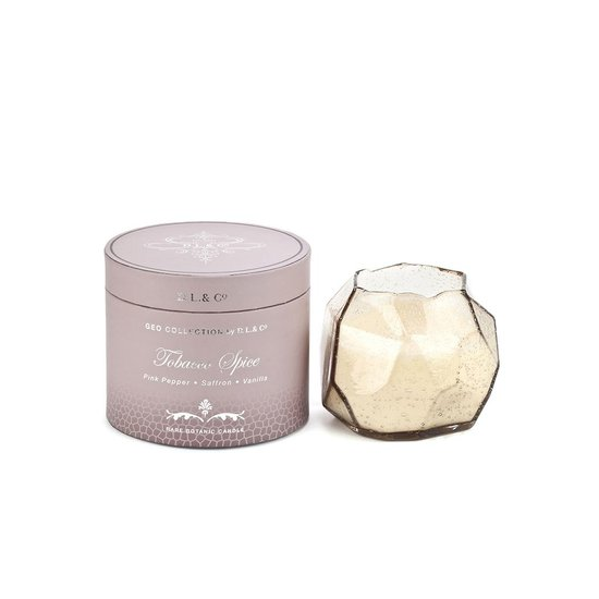 GEO BUBBLE GLASS CANDLE | TOBACOO SPICE