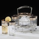 DRINK CADDY SET | SILVER