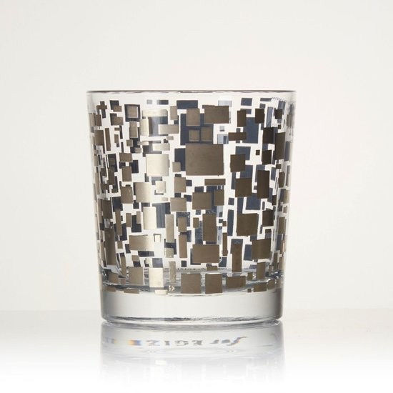 BOX DOUBLE OLD FASHION GLASSES | GREY & SILVER
