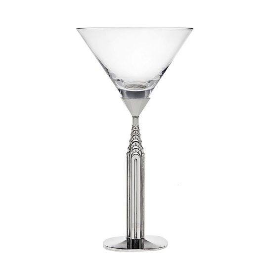 CHRYSLER BUILDING MARTINI GLASS