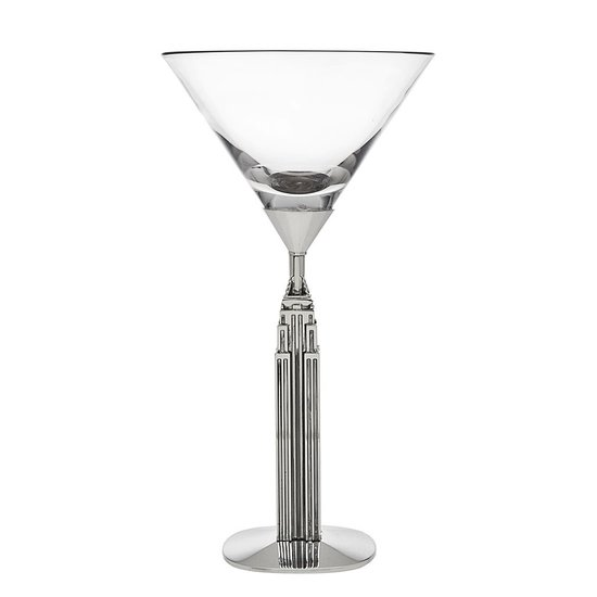 EMPIRE STATE BUILDING MARTINI GLASS