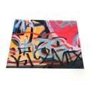 ACRYLIC GRAFFITI PLACEMAT SET