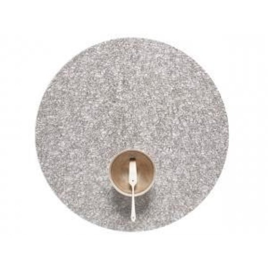 METALLIC LACE ROUND PLACEMAT   SILVER