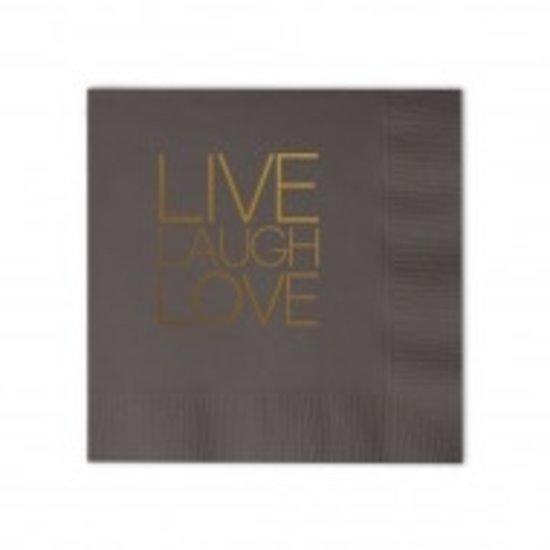 COCKTAIL NAPKIN BOX SET   LIVE, LAUGH, LOVE