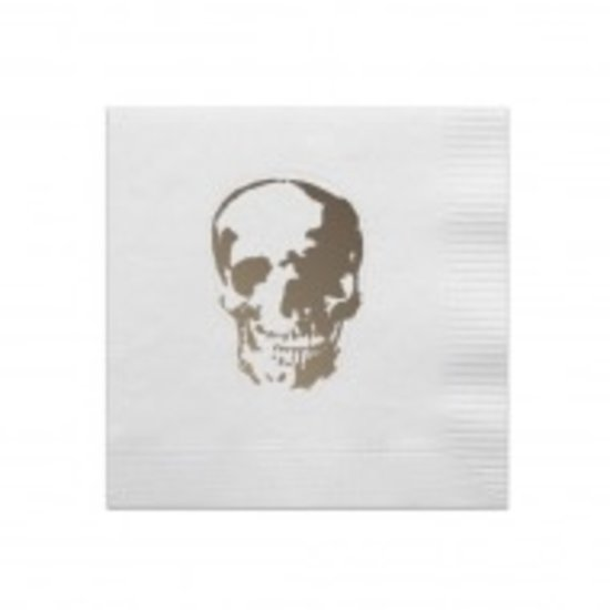 COCKTAIL NAPKIN BOX SET | SKULL