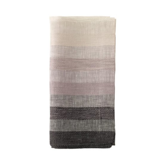 GRADIENT STRIPE NAPKIN | BLACK
