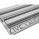 LIVE LAUGH MAHJ TRAY | SILVER GLITTER