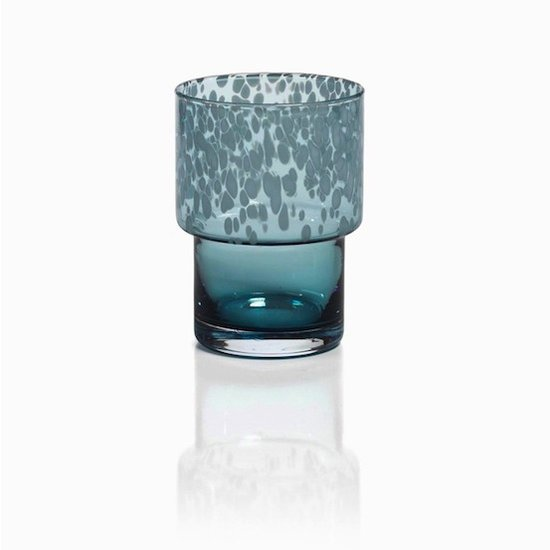 DOTTED ROCKS GLASS | BLUE