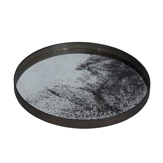 AGED MIRROR TRAY | LARGE