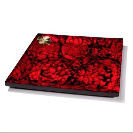 MOTHER OF PEARL TRAY   RED
