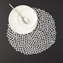 DAHLIA ROUND PLACEMAT | SILVER