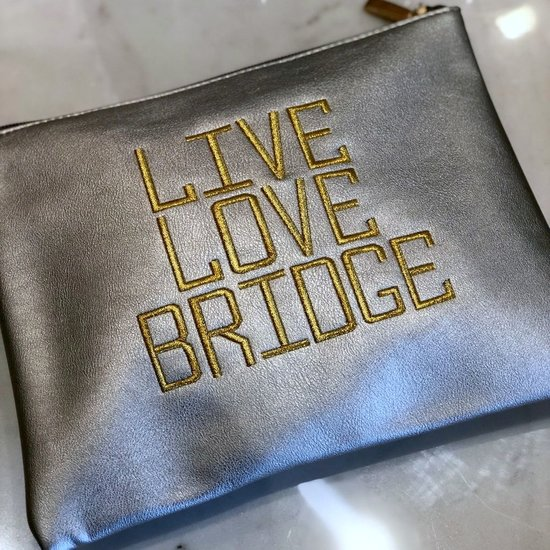 LIVE LOVE BRIDGE POUCH