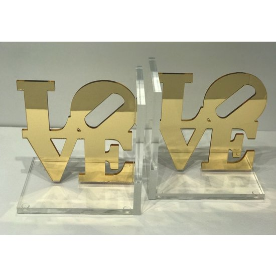 BOOKENDS | GLITTER LOVE | GOLD