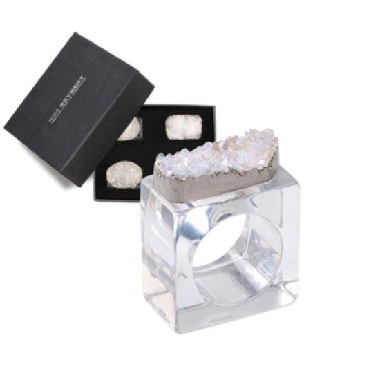 Rock Napkin Rings | Crystal