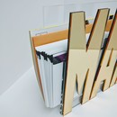 ACRYLIC MAIL HOLDER   GOLD MIRROR