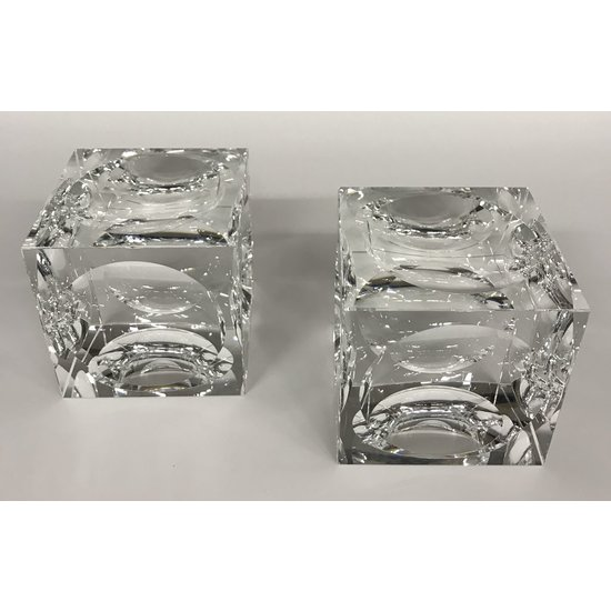 CRYSTAL CUBE BOOKENDS