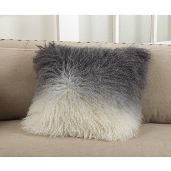 LAMB FUR PILLOW | SLATE OMBRE