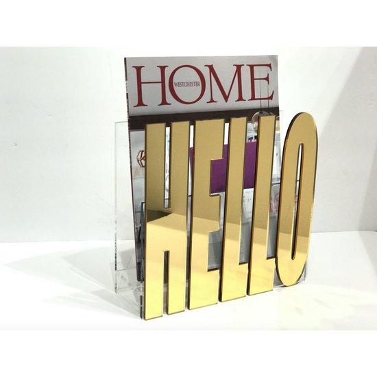"""""""HELLO"""" MIRROR MAIL HOLDER"""