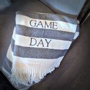 GAME DAY CANDY STRIPE THROW | BLACK & WHITE