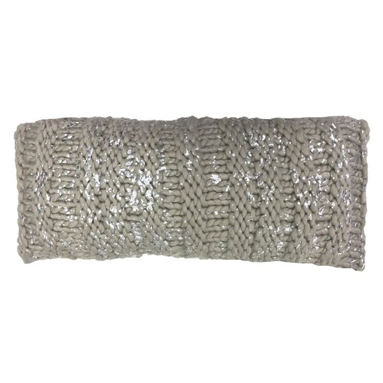CABLE KNIT PILLOW WITH GOLD FOIL