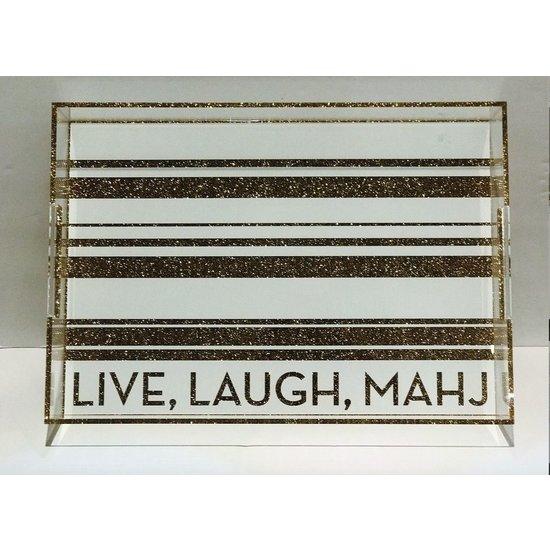 LIVE, LAUGH, MAHJ TRAY | CHAMPAGNE