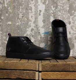 Fred Perry Fred Perry Shields Mid Leather - 102 Black/Charcoal