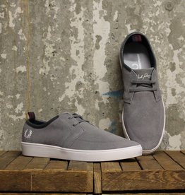 Fred Perry Fred Perry Shields Suede - C53 Falcon Grey/Snow White