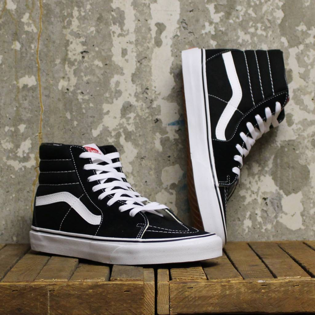 vans sk8 hi black and white
