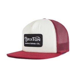 Brixton Brixton Grade Mesh Cap - White/Burgundy