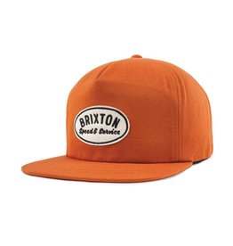 Brixton Brixton Mags HP Snapback - Burnt Orange