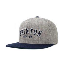 Brixton Brixton Harold Snapback - Light Heater Grey/Navy