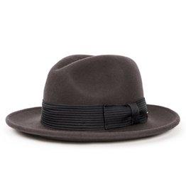 9b6ebe98ec0 Brixton Brixton Nelson Fedora - Charcoal Black. Felt Hat