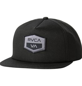RVCA RVCA Knights Five Panel Snapback - Black