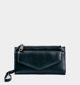 Colab Colab #5589 PVC Sara Wristlet Wallet - Black/Black