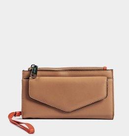 Colab Colab #5589 PVC Sara Wristlet Wallet - Nude/Coral