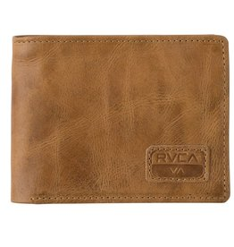 RVCA RVCA Dispatch Leather Wallet - Light Brown