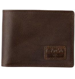 RVCA RVCA Dispatch Leather Wallet - Dark Brown