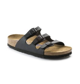 Birkenstock Birkenstock Florida SOFT Birko-Flor (Women - Narrow) - Black