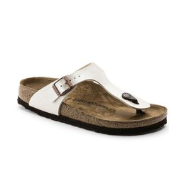Birkenstock Birkenstock Gizeh Birko-Flor (Women - Regular) - Graceful Antique Lace (Pearl White)