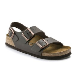 Birkenstock Birkenstock Milano Leather (Men - Regular) - Dark Brown